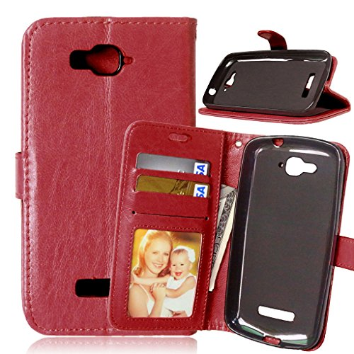 One Touch Pop C7,Funda FUBAODA Funda de Cuero de Alcatel One Touch Pop C7,[Cable...