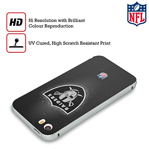Ufficiale NFL Pattern 2017/18 Oakland Raiders Argento Cover Contorno con Bumper in Alluminio per Apple iPhone 6 Plus / 6s Plus LED