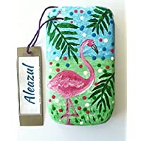 "Funda Vintage para Blackberry 8520 ""Flamingo Tropical (pintada a mano) única !"