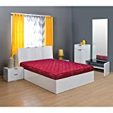 @home by Nilkamal Easy 4-inch Double Size Spring Mattress (Maroon, 78x48x4)