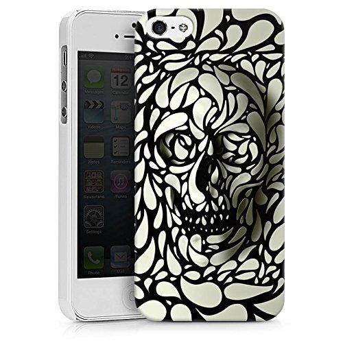 Apple iPhone X Silikon Hülle Case Schutzhülle Deep Skull Totenkopf Schädel Hard Case weiß