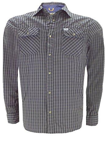 Replika -  Camicia Casual  - Uomo nero XL
