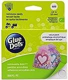 Glue Dots GD08388 auf Bogen, Vorteilspack 600 vielseitig verwendbare, Removable