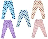 #7: IndiWeaves Girls Super Soft and Stylish Cotton Printed Leggings(Pack of 5)