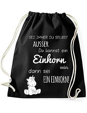 Jutebeutel Turnbeutel Sportbeutel Stofftasche Baumwolltasche Tasche Rucksack Gymsack Sei immer du Selbst, ausser...