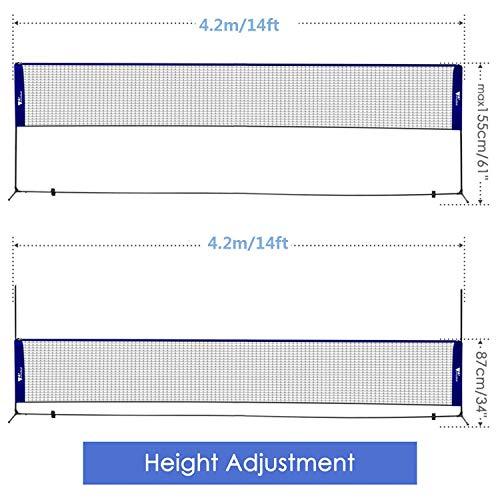 Zoom IMG-2 amzdeal rete da badminton portatile