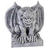 Design Toscano Gomorrhe la Gargouille Statue De Décor Gothique, 28 cm, polyrésine, pierre grise