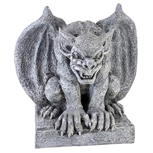 Design Toscano Gomorrah der Gargoyle Gothic-Dekostatue, Polyresin, steingrau, 28 cm - Gothic Gargoyle