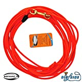 10 Meter Schleppleine Orange aus runder Biothane (coated rope)