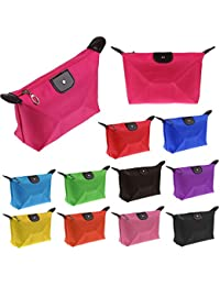 EasyBuy India Rose Red : 1 PC Multi-colors Woman Cosmetic Bag Storage Bag Fashion Lady Travel Cosmetic Pouch Bags...