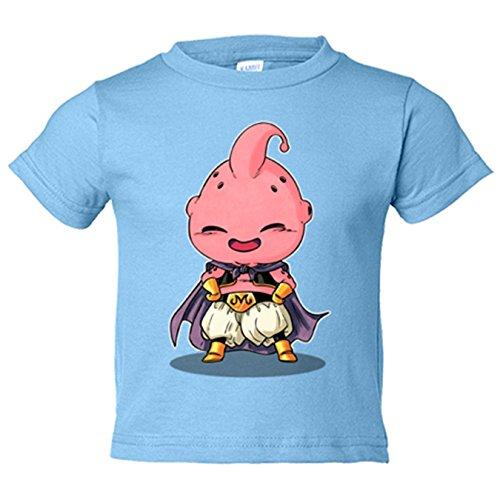 Camiseta niño Chibi Kawaii Majin Buu parodia de Dragon Ball - Celeste, 12-18 meses