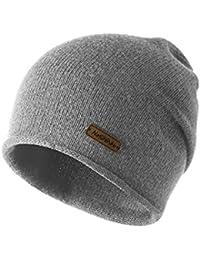 9c1ec15a1958c TRIWONDER Sombrero de Invierno Beanie Knit Slouch Hat Gorro Skull Hat  Sombrero de Lana para Hombres