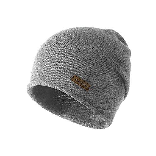e7d54f608678 TRIWONDER Sombrero de Invierno Beanie Knit Slouch Hat Gorro Skull Hat  Sombrero de Lana para Hombres y Mujeres (Gris)