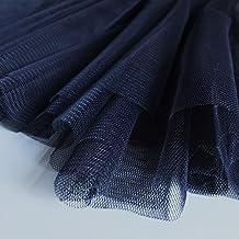 Azul marino/azul oscuro suave tul ocasión especial tela 150cm de ancho–se vende por metro