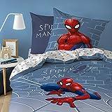Spiderman Bettwäsche, 100% Baumwolle, Grau, 140 x 200 + 63