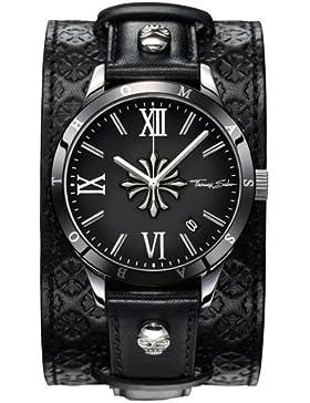 Thomas Sabo Herren-Armbanduhr REBEL ICON Cross Analog Quarz Leder WA0209-218-203-43 mm