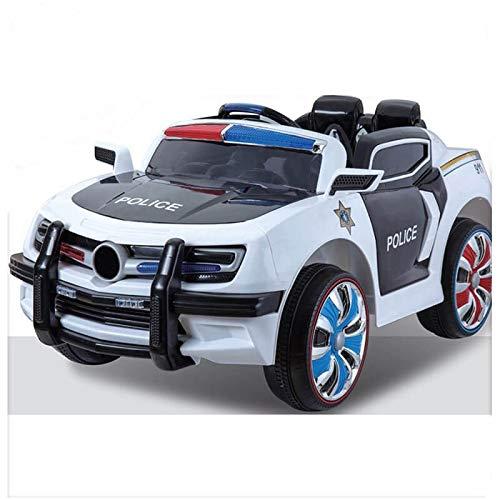 02536d2d8 Coche eléctrico para niños de Policía con Sirena – batería 12v y Mando  Control Remoto Padres