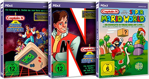 Captain N - Der Game Master - Gesamtedition / Die komplette Kultserie (Pidax Animation) [6 DVDs] (Master Captain Der N Game)