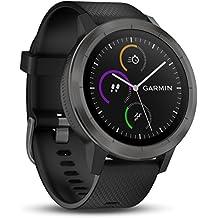Garmin vívoactive 3 GPS-Fitness-Smartwatch - vorinstallierte Sport-Apps, kontaktloses Bezahlen mit Garmin Pay, Gunmetal (Generalüberholt)