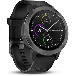 Garmin Vivoactive 3 – Smartwatch con GPS y Pulso en la muñeca, Negro (Gunmetal), M/L (Reacondicionado)