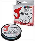 Daiwa J-Braid 8 Braid 0.13mm, 8,0kg/18lbs, 300m multicolour