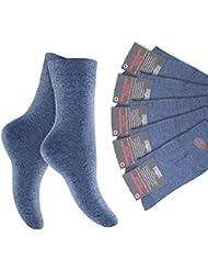 6 Paar Herren Diabetiker Socken - Nicht einschneidend - Spitze handgekettelt, Pique-Komfortbund - verschiedene Farben und Größen 35-38 wählbar - Qualität von celodoro
