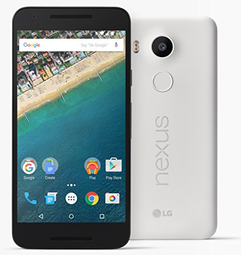 LG Nexus 5X - Smartphone libre Android  5 2   12 MP  2 GB RAM  16 GB   color blanco