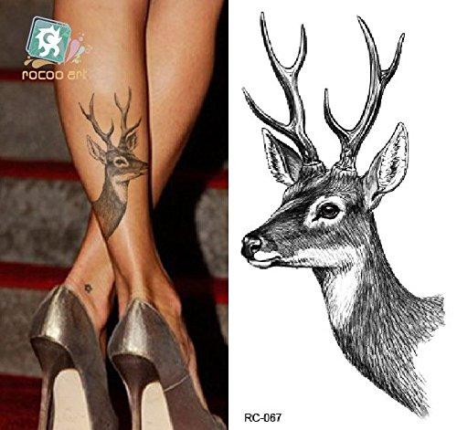 temporre-krperkunst-entfernbare-tattoo-aufkleber-hirsch-sticker-tattoo-temporary-tattoo-fashionlife