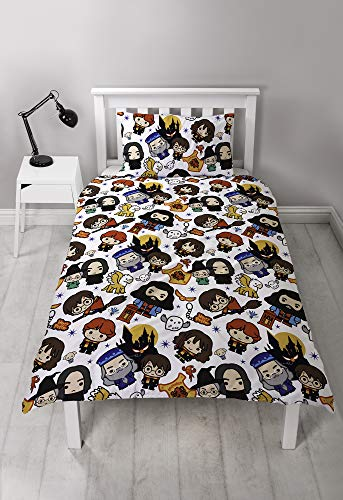 Harry-Potter-Charm-Design-Single-Reversible-Two-Sided-Official-Bedding-Duvet-Cover-with-Matching-Pillow-Case-Multi