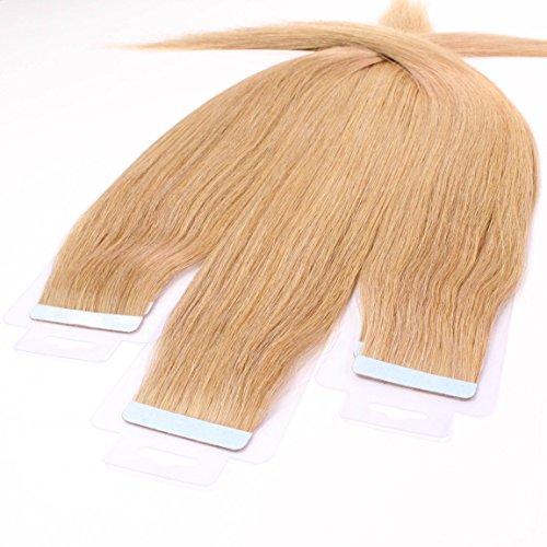 Just beautiful hair 20 x 2.5 g extension biadesive capelli veri - 50cm - liscio, colore #27 biondo dorato