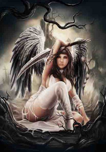 Anne Stokes Angel - Bandiera Poster 100% poliestere