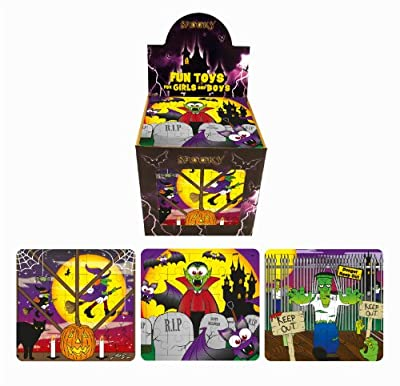 20 Spooky Jigsaw Puzzles Halloween Trick or Treat Party bag Fillers