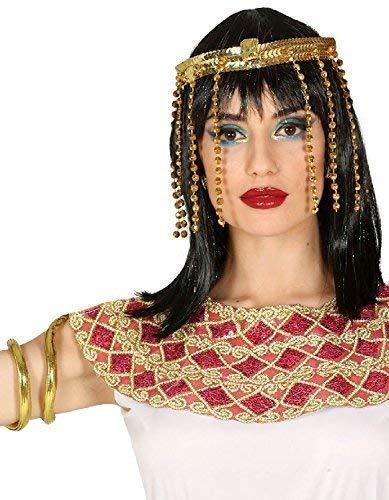 Fancy Me Damen Gold Ägyptische Kleopatra Kopfschmuck & Armband Griechen Kostüm Römisch Kostüm ()