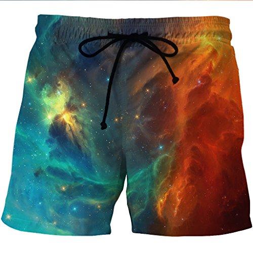 Cyzr Beach Shorts Schnelltrocknend In Europa Und Amerika Sterne Casual Hosen Taschen Auf Beiden Seiten Der, Xxl