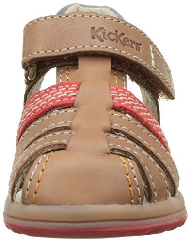 Kickers Platinium, Sandales Bébé Garçon Marron (Camel Rouge)