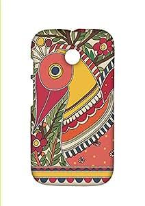 RANGSTER Madhubani Peacock-Rangful Matte Finish Mobile Case For Motorola Moto E (XT1022)-Mustard