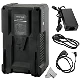 #9: Fomito BP-190 190Wh (13000mAh/14.8V) V-Mount Battery & Charger for Sony Video Camcorder