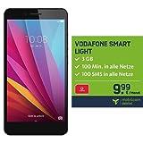 Honor 5X (5,5 Zoll Touch-Display, 16 GB interner Speicher, Android 5.1) grau + mobilcom-debitel Vodafone Smart Light