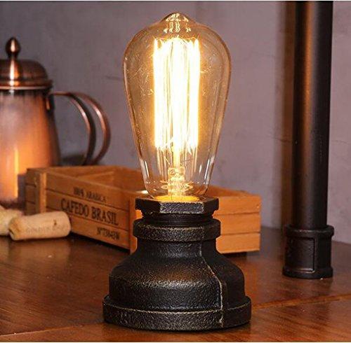FSLiving steampunk eisen lampe vintage - stil schreibtisch licht e27 eisen basis moderner antiken tisch glühbirnen nicht berücksichtigt. -