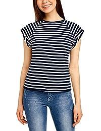 oodji Ultra Mujer Camiseta Básica de Algodón bdb9b5a62ef9f