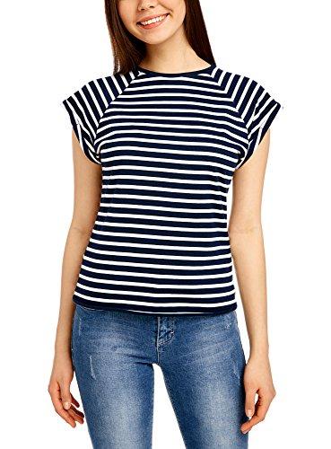 oodji Ultra Women's Basic Cotton T-Shirt with Raw Hem