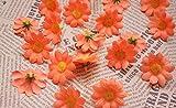 Doyeemei Approx 100pcs Artificial Gerbera Daisy Silk Flowers Heads for DIY Wedding Party