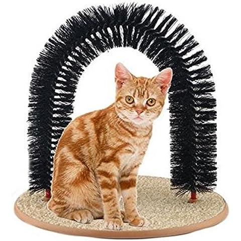 Bargain World Pelo di copertura pet sfregamento in policromia e pennello rimozione gatto afferrare graffiare giocattolo arco