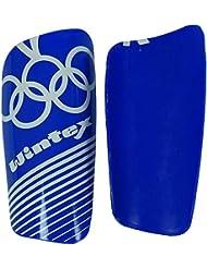 Wintex Shin Garde Léger Hockey Bleu Pvc Matériau Cheville Manchon - 20 X 12 Cm