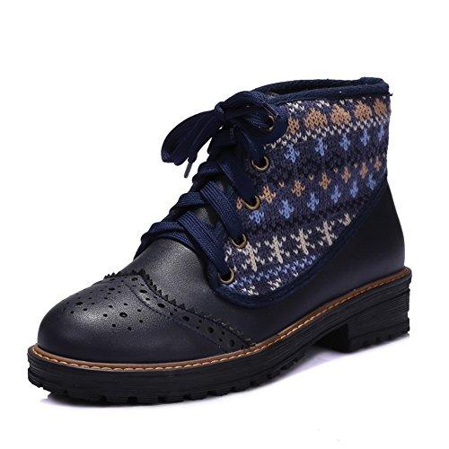 Boots , blau - dunkelblau - Größe: 37 (Plataform Stiefel)
