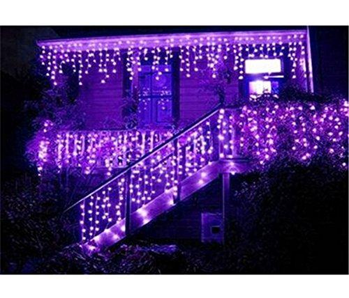216 LED 5M Eisregen/Eiszapfen Lichter, LED Lichtervorhang Lichter, Weihnachtsdeko Weihnachtsbeleuchtung Deko Christmas INNEN und AUSSEN, LED String Licht [NEWEST] -