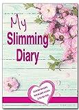 A5Ernährungstagebuch, Lebensmitteltagebuch und Sporttagebuch, rosa Blume