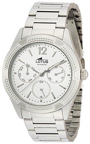 20ca0555aa76 Lotus 0 - Reloj de cuarzo para mujer, con correa de acero inoxidable, color  plateado - RelojesBaratos.org