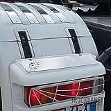 TRUCKDANET Accessori in acciaio INOX per camion SCANIA, copertura fanale posteriore con disegno ragnatela
