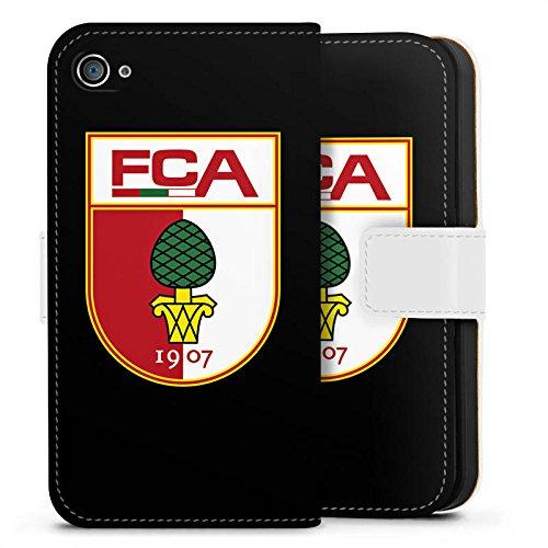 Apple iPhone 7 Plus Hülle Case Handyhülle FC Augsburg Fanartikel Fußball Sideflip Tasche weiß